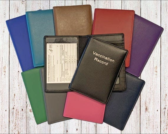 Leather Vaccine Card Holder