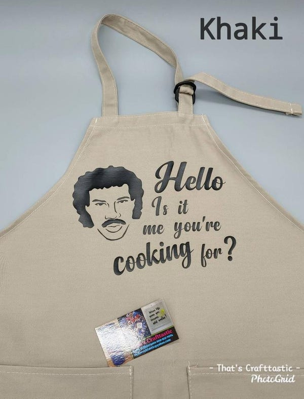 """Funny """"Hello Is it me you're cooking for?"""" Kitchen or Grill Apron"""