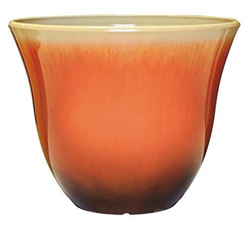 """Honeysuckle Planter, Patio Pot, 15"""" Tequila Sunrise"""
