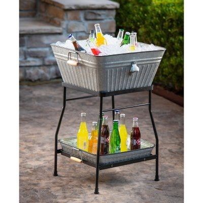 Member's Mark Beverage Tub and Tray with Stand Set