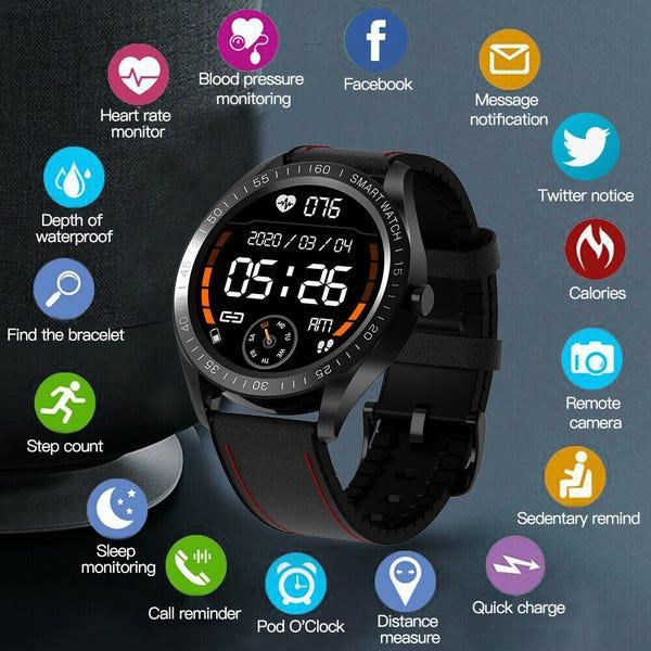 Waterproof Smart Watch with GPS, Heart Rate & Blood Pressure Monitor