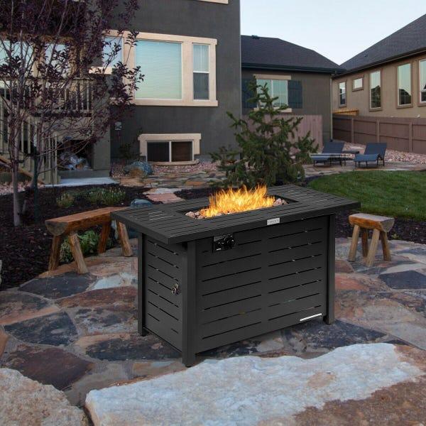 "42"" 60,000 Btu Rectangular Propane Gas Fire Pit Table"