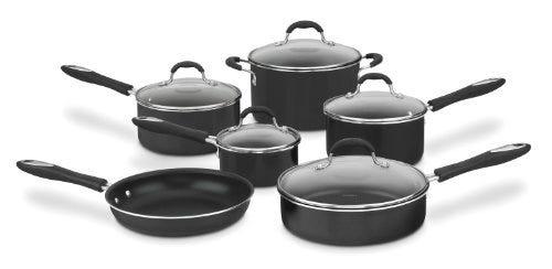 Cuisinart Advantage Nonstick 11-Piece Cookware Set, Black