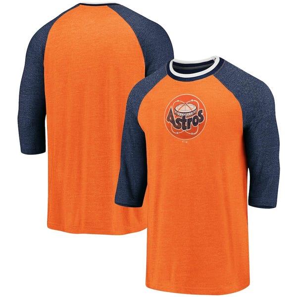 Cooperstown Collection True Classics Logo Raglan Tri-Blend 3/4-Sleeve T-Shirt