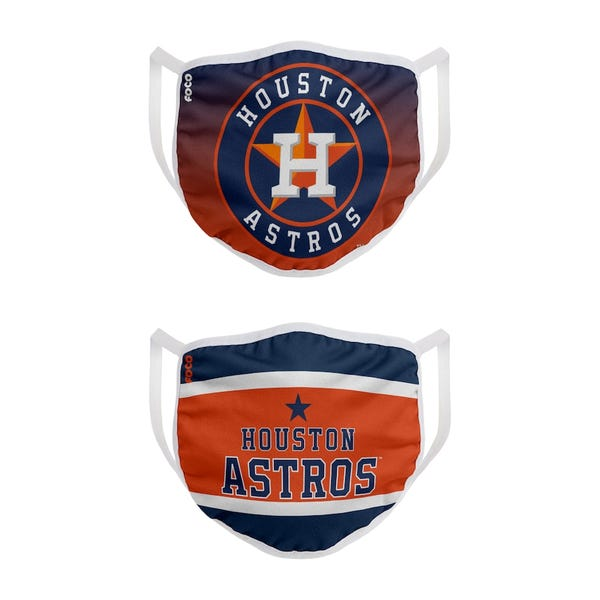 Houston Astros FOCO Adult Printed Face Covering 2-Pack
