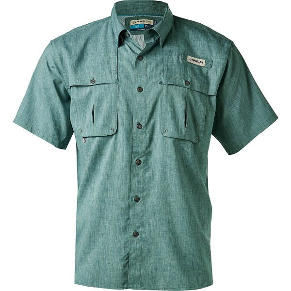 Magellan Outdoors Men's Aransas Pass Heather Short Sleeve Fishing Shirt