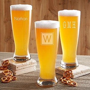 Classic Celebrations Personalized Beer Pilsner Glass - #17833-M
