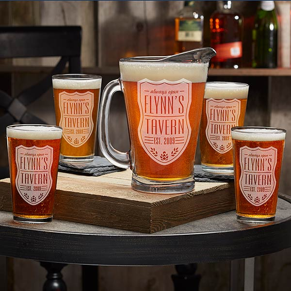 Beer Label Personalized Beer Pitcher & Pint Glasses
