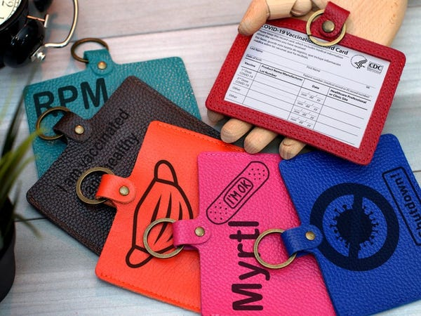 3 x 4 Inches Personalized Vaccination Card Cover