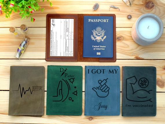 Personalized Vaccination Card Holder