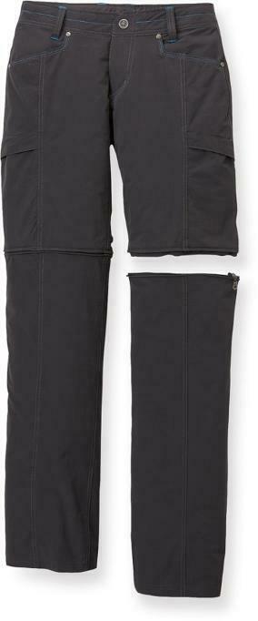 KUHL Women's Anika Convertible Soft-Shell Nylon Pants - Gray - 10 Regular