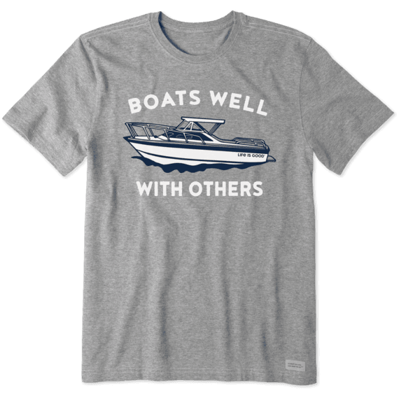 Men's Boats Well With Others Crusher Tee