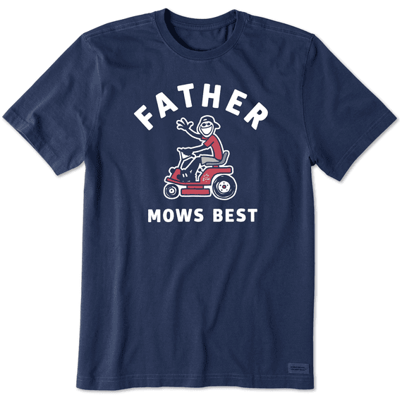 Men's Father Mows Best Short Sleeve Tee