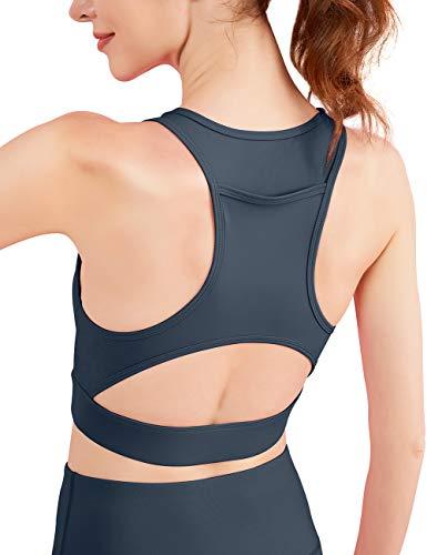 VUTRU Women's Sports Bra Back Pocket Removable Pad Running Workout Bra