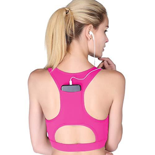 EYILAI Wireless Sports Bra for Women HighSupport Pocket