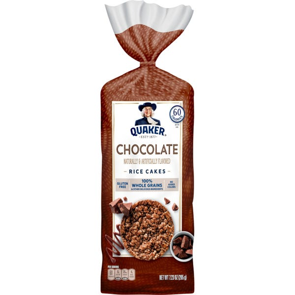 Quaker Rice Cakes Chocolate Crunch - 12 Pack