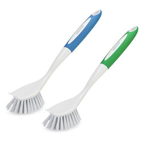 Amazer Kitchen Scrub Brush Sink Bathroom Brushes with Scraper Tip