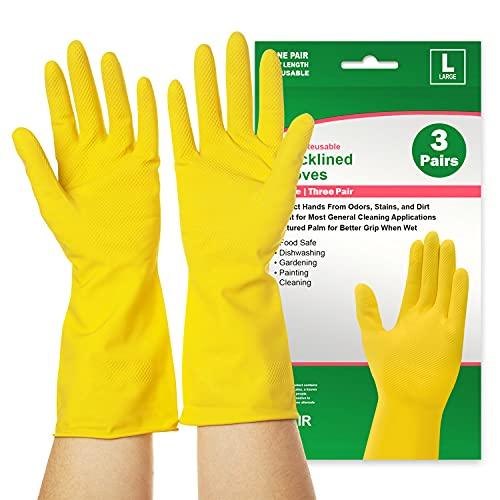 Reusable Dishwashing Gloves 3 Pairs