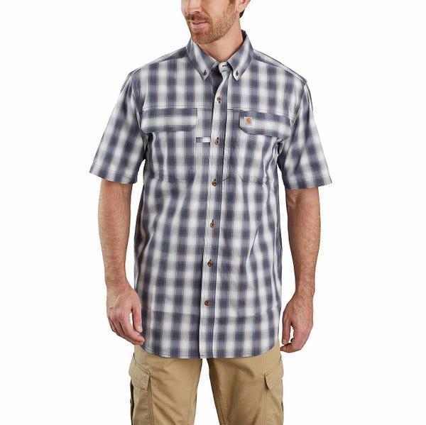 Carhartt Force® Relaxed Fit Lightweight Short-Sleeve Button-Front Plaid Shirt