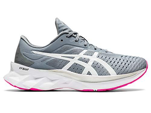 ASICS Women's NOVABLAST Running Shoes, 8M, Sheet Rock/White
