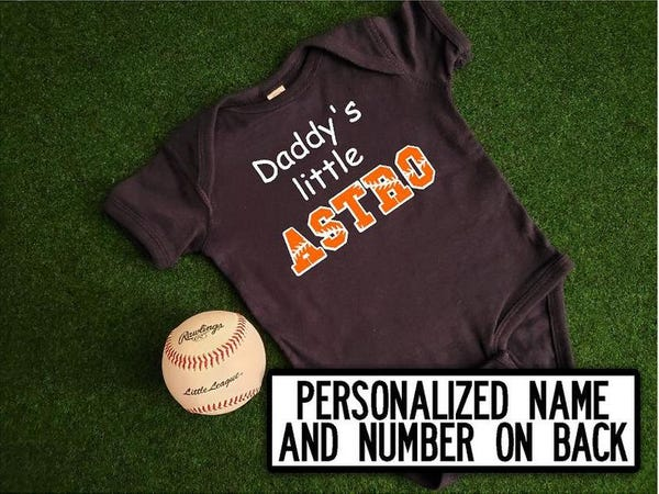 Daddy's Little Astro Personalized Bodysuit