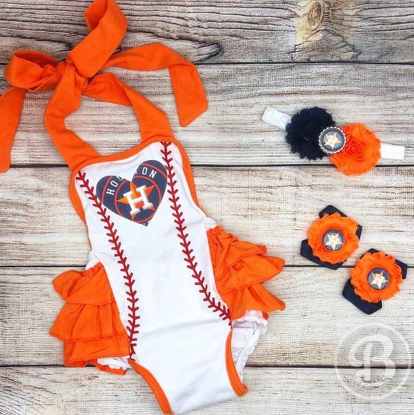Houston Astros Baby Girl Romper