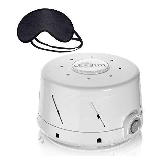 Marpac Dohm-DS All Natural Sound Machine & Zonoz Sleepy Eyez Lightweight Sleeping Mask (Grey)