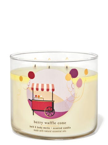 Berry Waffle Cone 3-Wick Candle