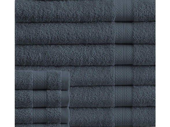 Addy Home Luxury 100% Plush Cotton 24PC Bath Towel Set - Your Choice of Color