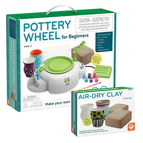 Pottery Wheel for Kids and Beginners with Air-Dry Clay Refill
