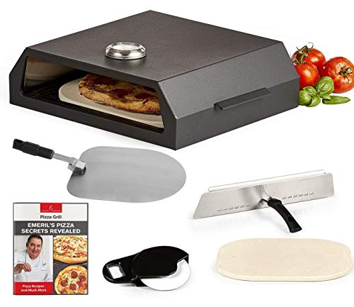 Emeril Lagasse Pizza Grill, Pizza Oven Kit for Outdoor Grill or Indoor Gas Stovetop