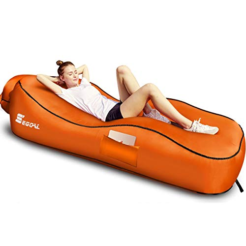 SEGOAL Ergonomic Inflatable Lounger Beach Bed Camping Chair