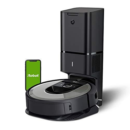 iRobot Roomba i6+ (6550) Robot Vacuum with Automatic Dirt Disposal-Empties Itself for up to 60 Days, Wi-Fi Connected, Works with Alexa, Carpets, + Smart Mapping Upgrade - Clean & Schedule by Room
