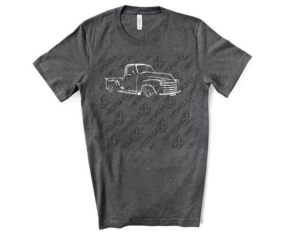 Classic Car Shirt of a 1947-1953 Chevy 3100 Truck
