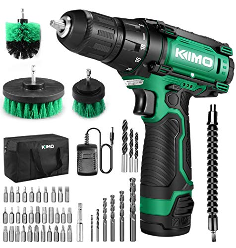 48 Piece Cordless Drill/Driver Kit with Lithium-Ion Battery Brushes