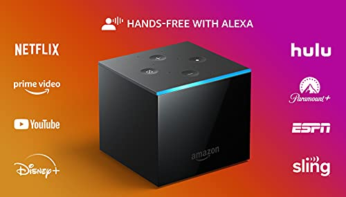Fire TV Cube | Hands-free streaming device with Alexa | 4K Ultra HD | 2019 release