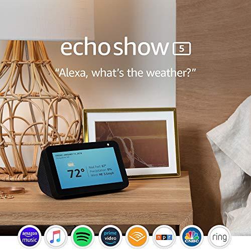 Echo Show 5 (1st Gen, 2019 release) -- Smart display with Alexa