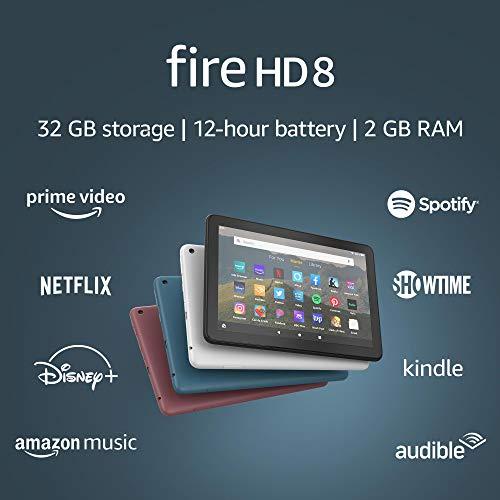 "Fire HD 8 tablet, 8"" HD display, 32 GB, latest model (2020 release)"