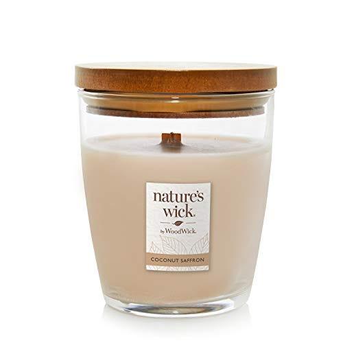 Nature's Wick Coconut Saffron Scented Candle, 10 ounces