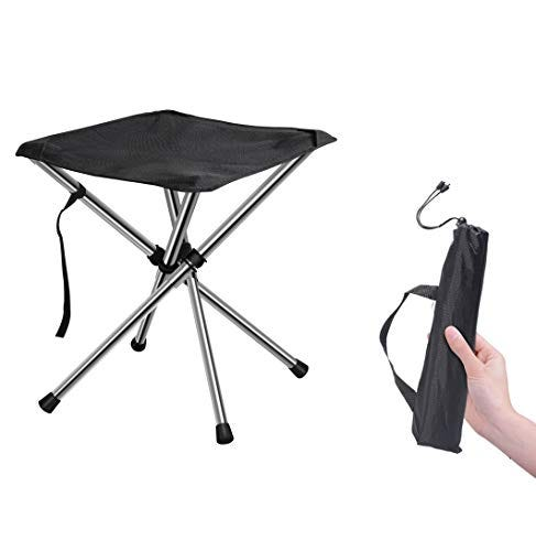 Chiitek Foldable Camping Stool Travel Chair with Case