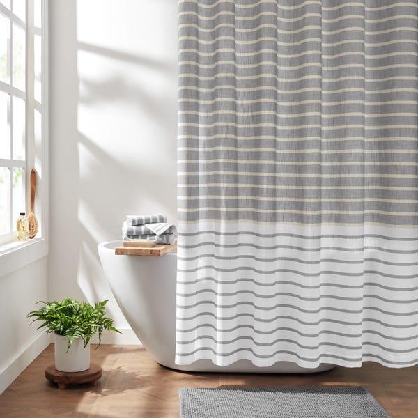 Stripe Organic Cotton Shower Curtain