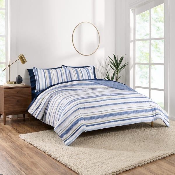 Reversible Organic Cotton Blend Comforter Set