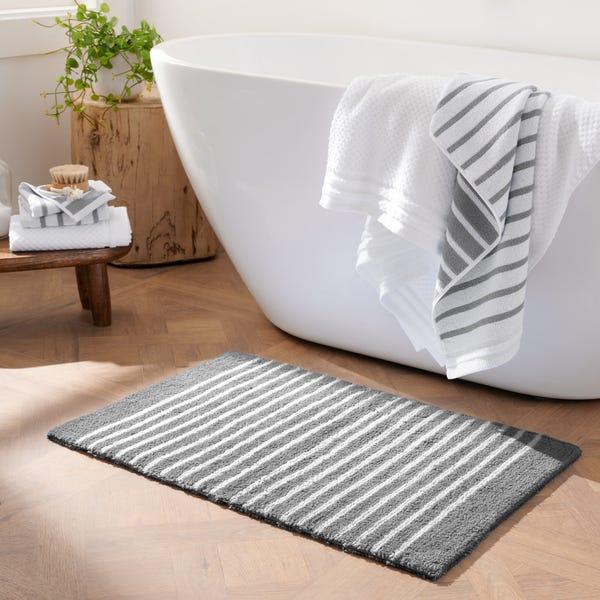 Stripe Reversible Cotton Bath Rug