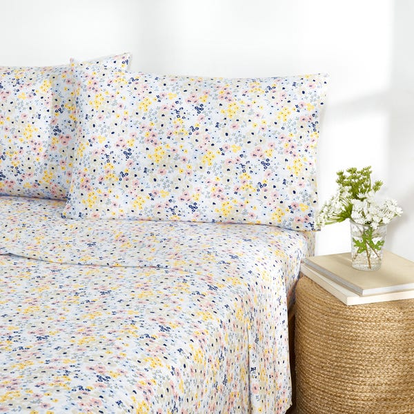 Ditsy Floral Percale Easy Care Sheet Set