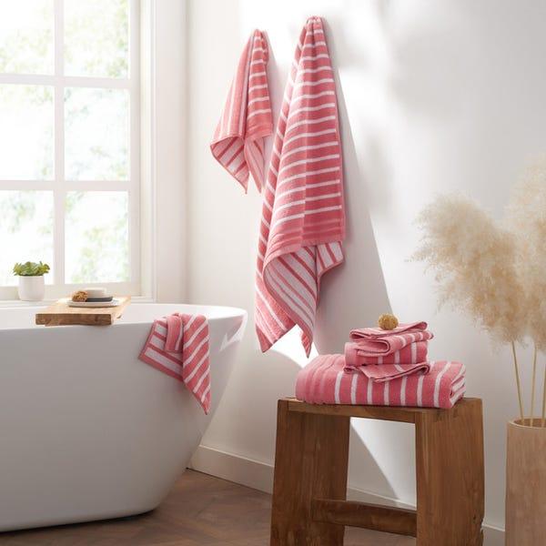 Stripe Organic Cotton 6 Piece Bath Towel Set