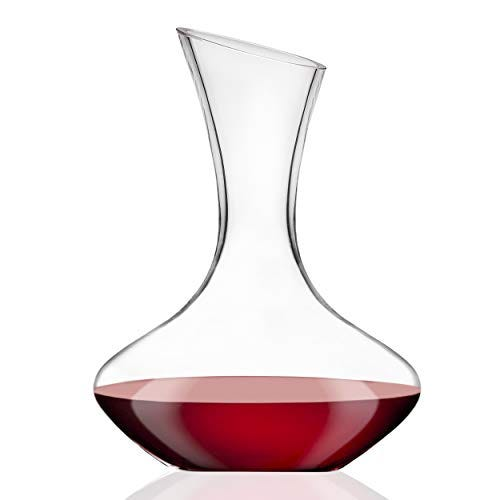 Godinger Wine Decanter Carafe, Hand Blown Wine Decanter Aerator - Wine Gift