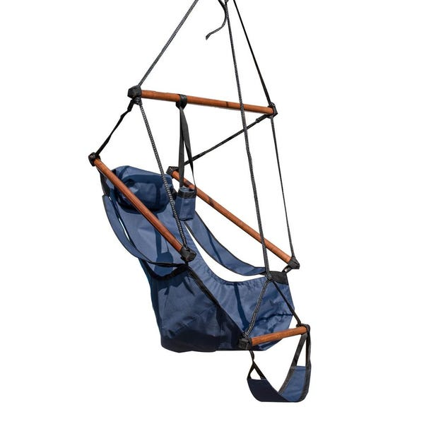 Hanging Hammock Swing Chair with Pillow and Footrest