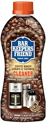 Bar Keepers Friend Coffee Maker Cleaner