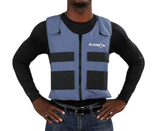 Glacier Tek Sports Cool Vest for Men and Women (Blue Color)