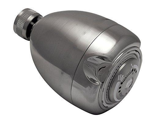 Niagara Conservation High Efficiency 1.5 GPM Earth Spa 3-Spray Showerhead in Brushed Nickel, N2915BN Fixed Shower Head